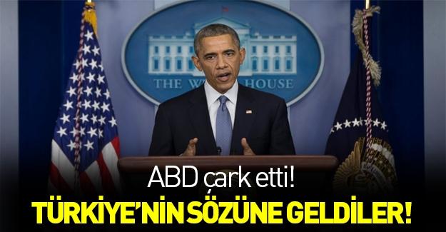 ABD çark etti! Türkiye'nin sözüne geldiler...