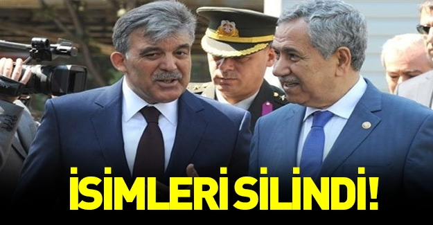 Abdullah Gül ve Bülent Arınç'a büyük şok!