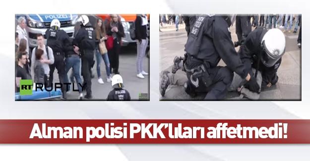Alman polisi PKK sempatizanlarına acımadı