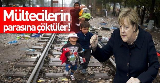 Almanya sığınmacıların parasına çöktü!
