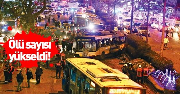 Ankara saldırısında ölü sayısı yükseldi
