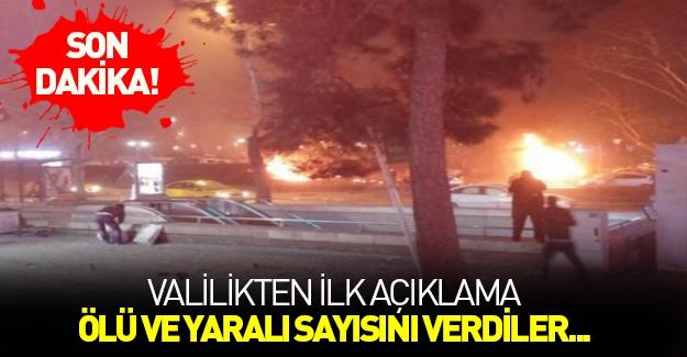 Ankara Valiliği'nden ilk açıklama! Ölü sayısını verdiler...