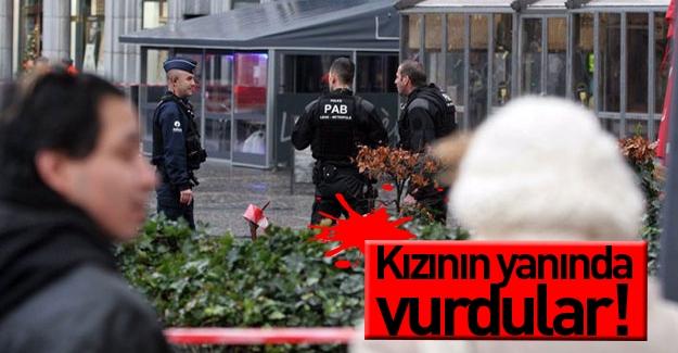 Belçika polisi şüpheliyi kızının yanında vurdu