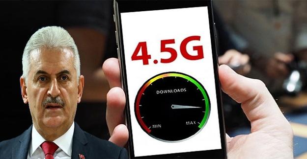Binali Yıldırım'dan 4.5G uyarısı!