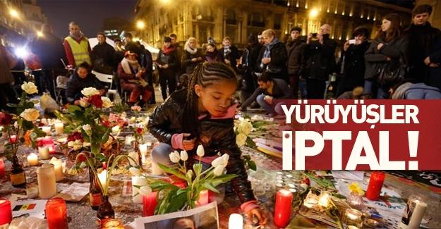 Brüksel'de yürüyüşler iptal edildi