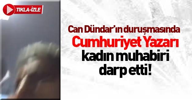 Can Dündar'ın duruşmasında Sabah muhabirine saldırı