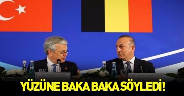 Çavuşoğlu, Belçikalı bakanı yüzüne karşı eleştirdi