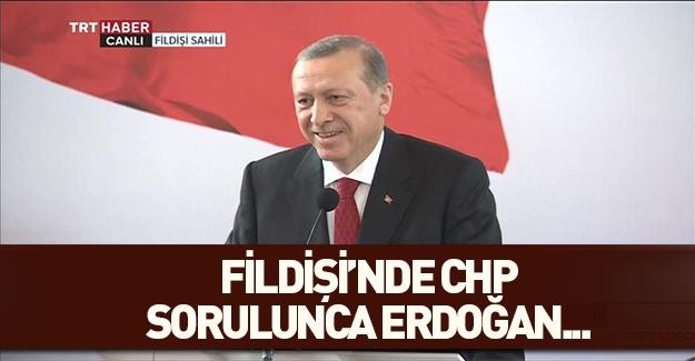 CHP sorusu Cumhurbaşkanı Erdoğan'ı güldürdü