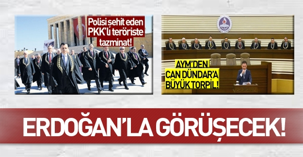 Cumhurbaşkanı Erdoğan AYM Başkanı Arslan'ı kabul edecek