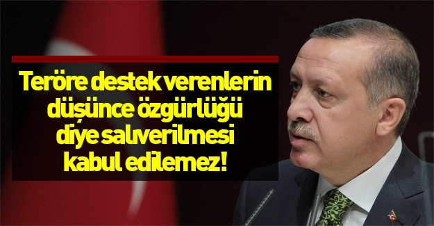 Cumhurbaşkanı Erdoğan'dan sert açıklamalar