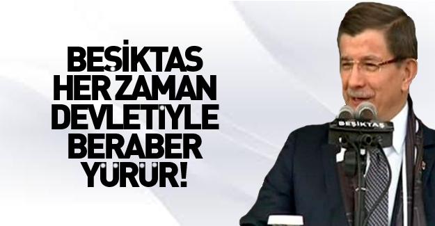 Davutoğlu Beşiktaş Arena'nın açılışında konuştu