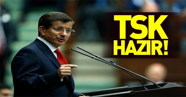 """Davutoğlu """"hazırız"""" dedi!"""