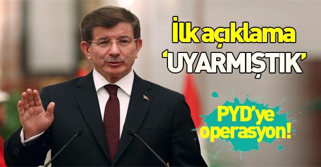 Davutoğlu'ndan flaş YPG açıklaması!