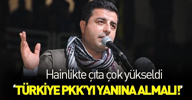Demirtaş: Türkiye PKK'yı yanına almalı