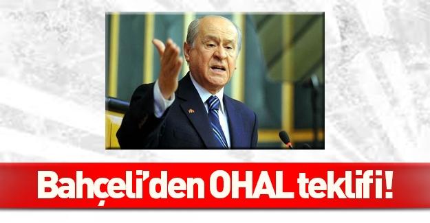Devlet Bahçeli'den 'OHAL' teklifi