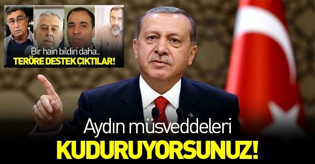 Erdoğan: Aydın müsveddeleri kudurun!