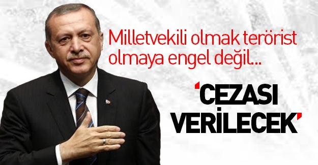 Erdoğan'dan terörist cenazesine giden HDP'lilere tepki