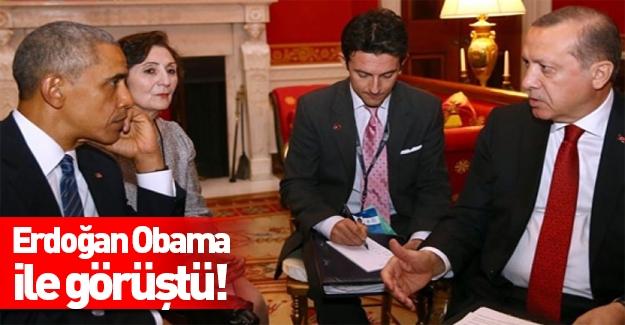 Erdoğan ile Obama Beyaz Saray'da görüştü