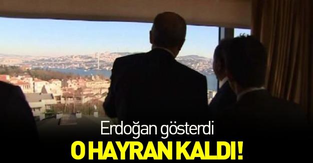 Erdoğan, konuk Cumhurbaşkanına inşaatı gösterdi