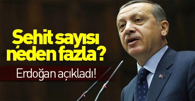 Erdoğan şehit sayısının neden fazla olduğunu açıkladı!