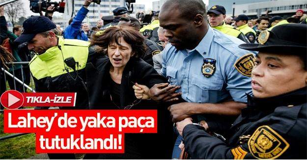 Fransız gazeteci Lahey'de yaka paça tutuklandı