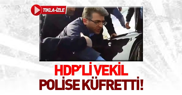 HDP'li vekil polise hakaret etti!