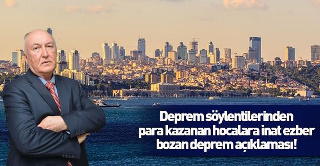 İstanbul depremi için ezber bozan açıklama