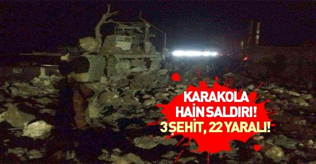 Jandarma karakoluna saldırı: 3 şehit 22 yaralı