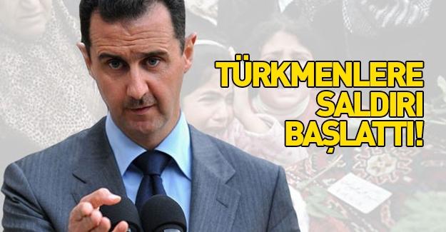 Katil Esed, Türkmenlere saldırı başlattı
