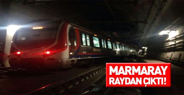 Marmaray' raydan çıktı!