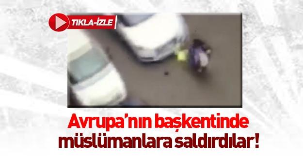 Müslüman kadının üzerine araba sürdüler
