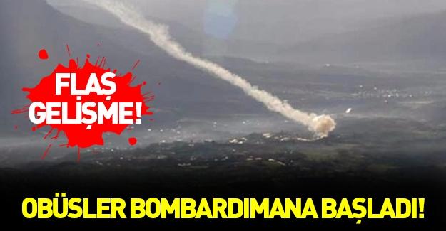 Obüsler PKK'yı top atışına tuttu