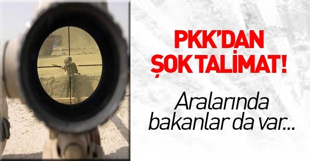 PKK 6 kişi için suikast emri! Aralarında Bakanlar da var