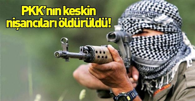 PKK'nın keskin nişancıları öldürüldü!