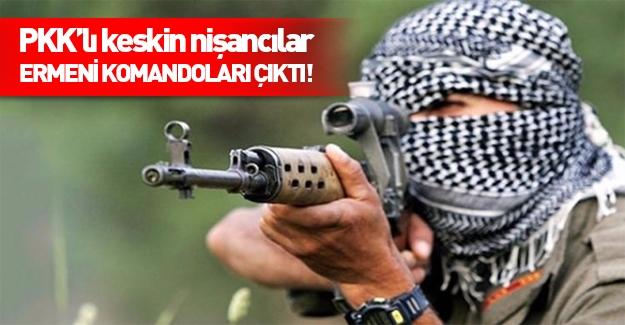 PKK'lı keskin nişancılar Ermeni komandosu çıktı!