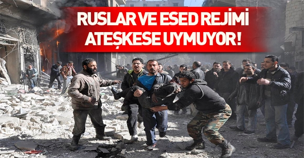 Rus uçakları Halep'i bombaladı!