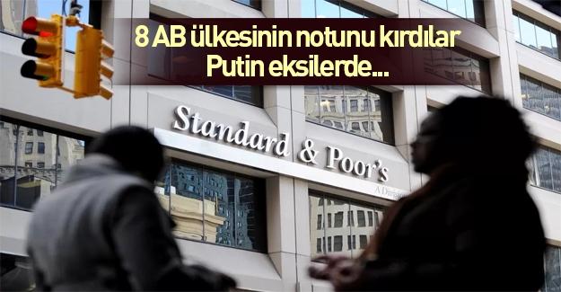 S&P Rusya ve 8 Avrupa ülkesinin notunu açıkladı