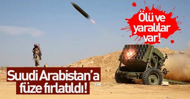 Suudi Arabistan'a füze atıldı! Ölü ve yaralılar var