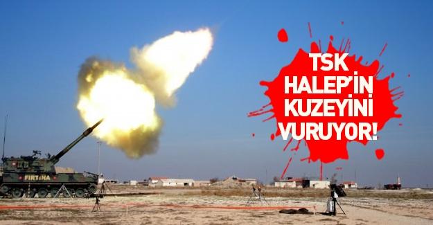 TSK Halep'in kuzeyindeki hedefleri vuruyor!