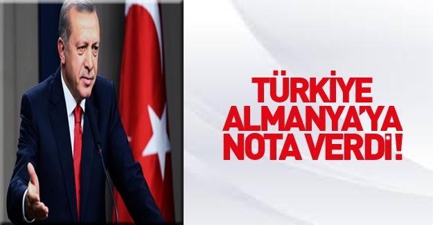 Türkiye Almanya'ya nota verdi!
