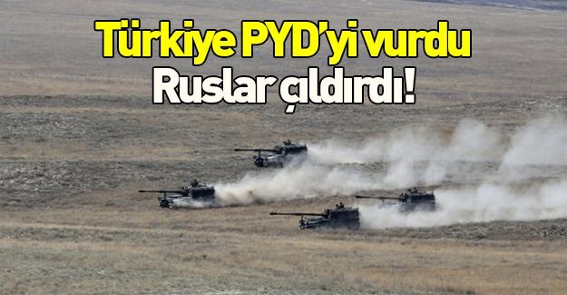 Türkiye PYD'yi vurunca Ruslar çıldırdı!