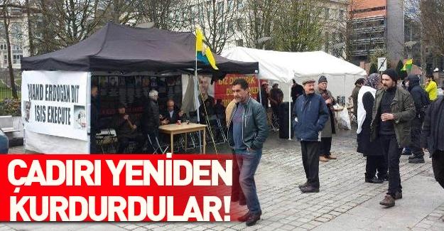 Yüzsüz Avrupa, PKK çadırını yeniden kurdurdu!