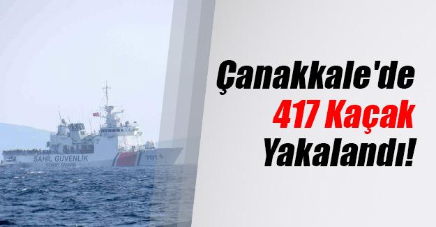 Çanakkale'nin Ayvacık ilçesinde Midilli Adası'na geçmeye çalışan 417 kaçak yakalandı!