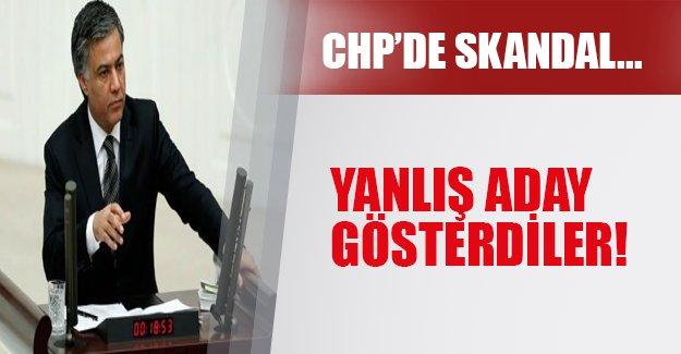 CHP yanlışlıkla aday gösterdi