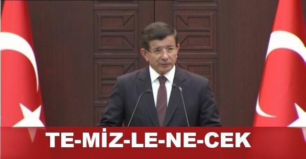 """Davutoğlu vurgulayarak söyledi: """"O dağlar temizlenecek"""""""