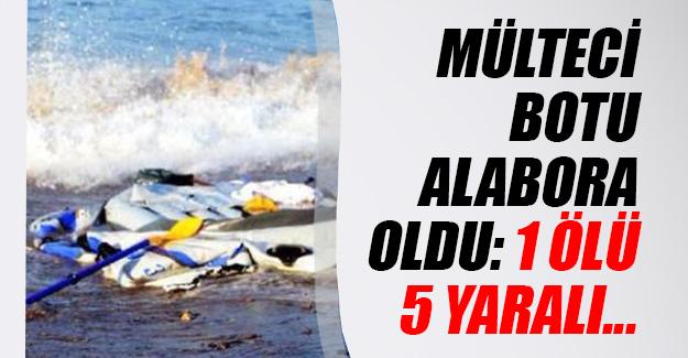 Enez'den Yunanistan'a gitmeye çalışan mülteci botu alabora oldu!