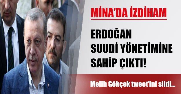 Erdoğan Suudi rejimine arka çıktı!