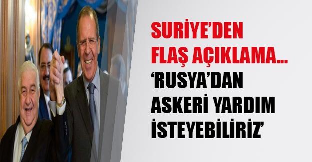 Esed rejiminden flaş açıklama! Suriye ordusunu desteğe çağırabiliriz...