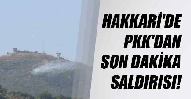 Hakkari'nin Şemdinli ilçesinde PKK'dan havan ve uzun namlulu saldırı!