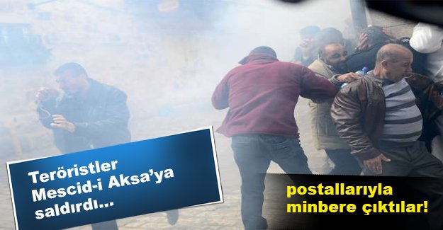 İsrail güçleri Mescid-i Aksa'ya saldırdı